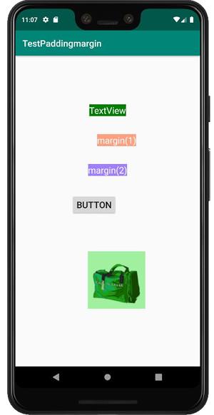 padding margin 02 - [Android] アプリのレイアウトに必須, paddingとmarginで間隔を調整する