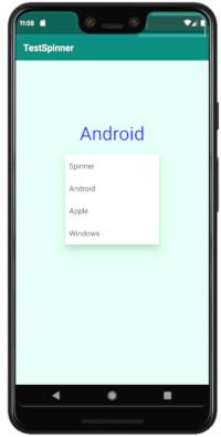 spinner 02 - [Android] プルダウンで項目選択できるSpinnerをアプリに設定する