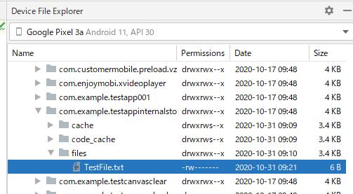 appinternalstorage 01 - [Android] アプリ固有の内部ストレージにファイルを保存する