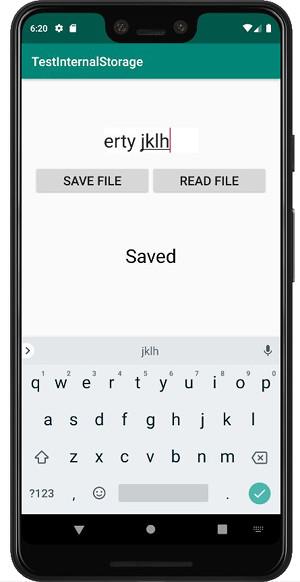 internal storage 01b - [Android] アプリ内にファイルを保存する FileOutputStream, FileInputStream