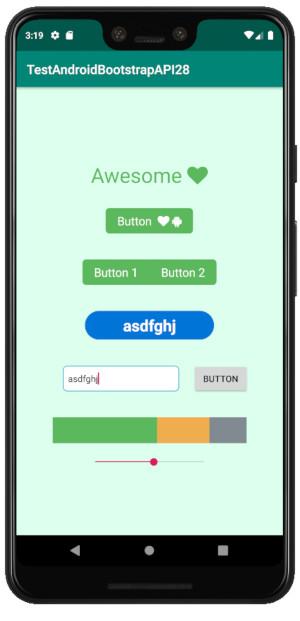 boostrap 01 - Android Bootstrap ライブラリーをインポートする