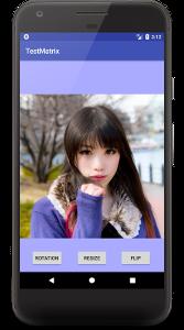 matrix 01 - [Android] Matrixで画像を回転、フリップ、縮小させる