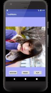 matrix 02 - [Android] Matrixで画像を回転、フリップ、縮小させる