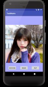 matrix 04 - [Android] Matrixで画像を回転、フリップ、縮小させる