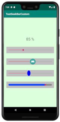 seekbar custo 02 - [Android] SeekBar の配列をコードで記述、ツマミとPregress barのカスタマイズ