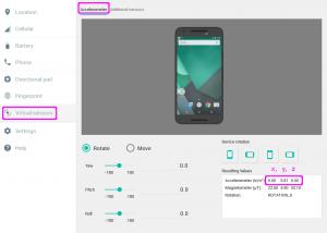 emu accele 300x214 - [Android] 加速度センサー Accelerometer を使ってみる