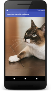 horizontal scrollview01 - [Android] HorizontalScrollView 横スクロール