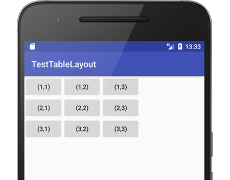 tablelayout 01 - [Android] TableLayout 意外とうまくできないマス目配置