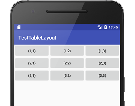 tablelayout 02 - [Android] TableLayout 意外とうまくできないマス目配置