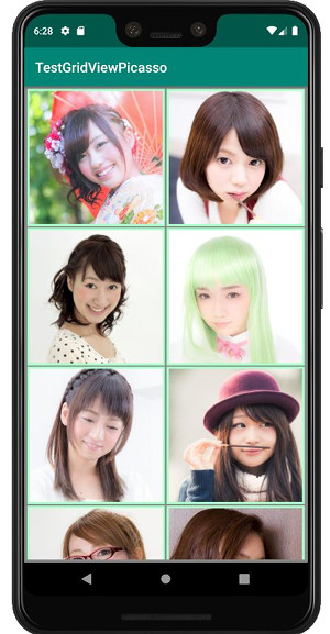 picasso gridview 02 - [Android] Picasso でネット上の画像をGridViewで表示